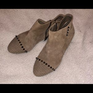 Aldo ankle high studded boots